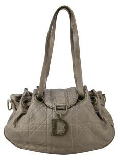 Bolsa Christian Dior Bronze Metallic Lambskin Leather Cannage