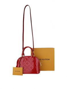 Bolsa Louis Vuitton Alma BB Red Verniz