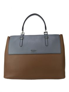 Bolsa Prada Lux Calf Single Flap Bicolor
