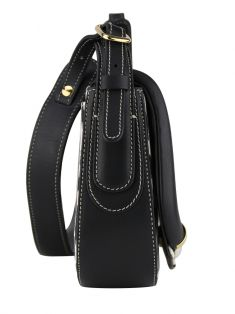 Bolsa Roberto Cavalli Canvas & Leather Horn Crossbody