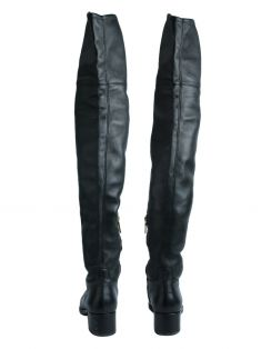 Bota Over The Knee Prada Couro Preto