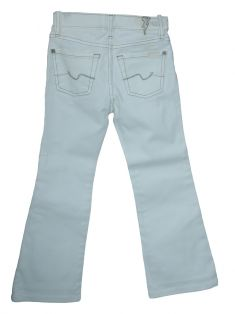 Calça Seven For All Mankind Branca Infantil