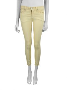 Calça Seven For All Mankind Cropped Skinny Amarelo