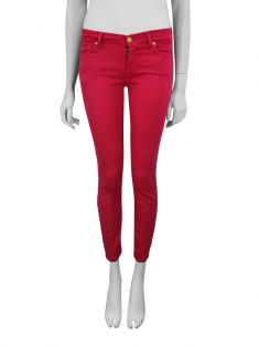 Calça Seven For All Mankind Cropped Skinny Pink