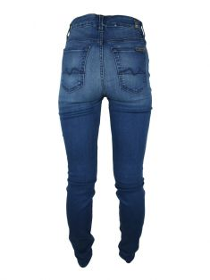 Calça Seven For All Mankind The Hight Waist Skinny Azul