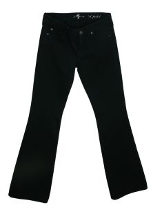Calça Seven For All Mankind A Pocket Flare Preta