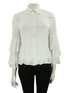 Camisa Thelure Tecido Off White