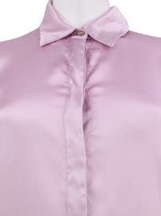 Camisa Versace Collection Seda Lilás