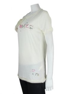 Camiseta Lanvin Off White Bordados