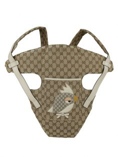 Suporte Canguru Gucci Zoo Patch GG Canvas