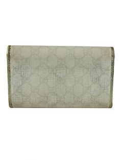 ee466c9cd Carteira Gucci Canvas Off-White Original - VV15 | Etiqueta Única
