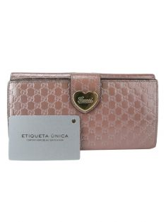 Carteira Gucci Heart  Continental Rosê