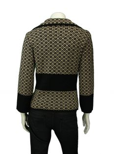 Blazer Mixed Estampado Preto