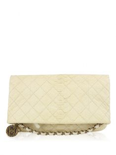 Clutch Chanel Medallion Charm Off-White