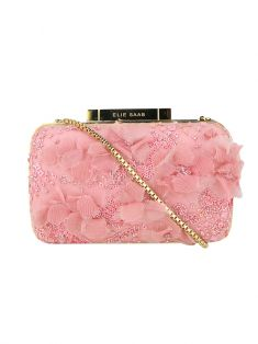 Clutch Elie Saab Bordada Rosa