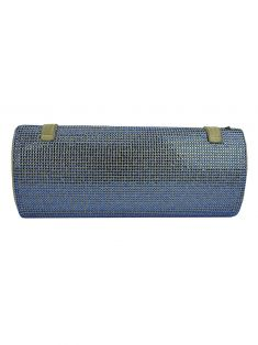 Clutch Gianni Versace Strass Azul