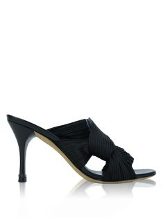 Mule Gucci Pleated Preto