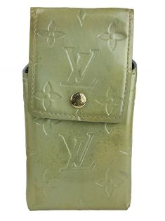 Porta Celular Louis Vuitton Verniz Lime