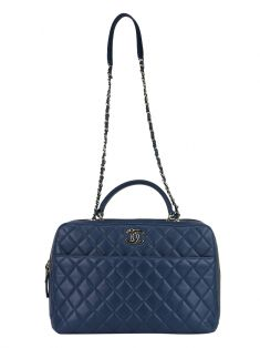 Bolsa Chanel Quilted Large Trendy CC Azul