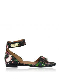 Flat Givenchy Couro Floral