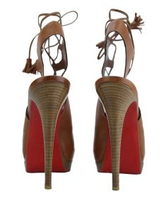 Sapato Christian Louboutin Miss Fortune Marrom