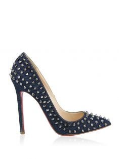 Sapato Christian Louboutin Pigalle Spikes Jeans