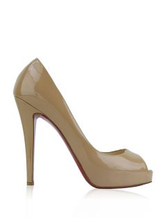 Peep Toe Christian Louboutin Very Prive Nude