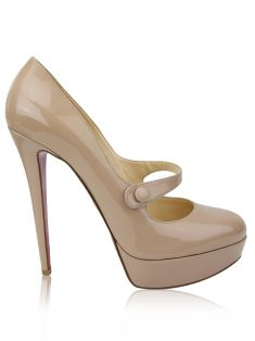 Sapato Christian Louboutin Wallis Mary Jane Nude
