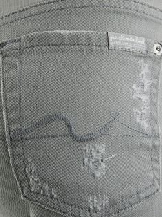 Shorts Seven For All Mankind Jeans Cinza