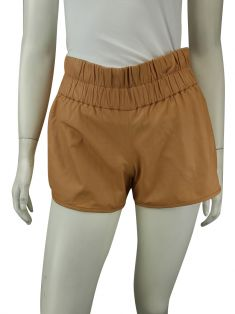 Shorts TalieNk Couro Camelo