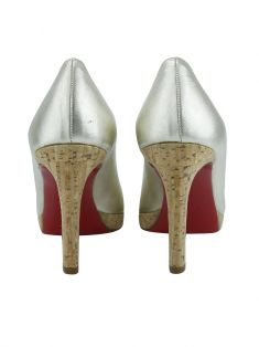 Sapato Christian Louboutin Simple Pump Metalizado