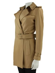 Trench Coat Burberry Couro Nude