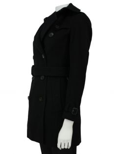 Trench Coat Burberry Tecido Preto