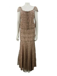 Vestido Candy Brown Longo Renda