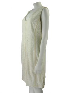Vestido Lita Mortari Renda Off-White