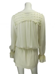 Vestido Mixed Chemise Off-White