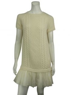 Vestido Red Valentino Tricot Off-White