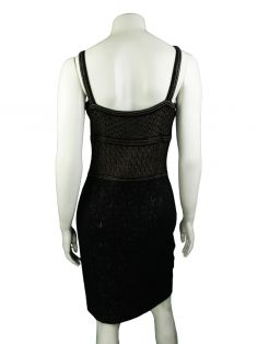 Vestido St. John Evening Preto